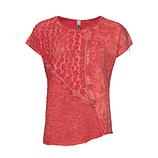 Shirt mit Glitzer und Loch-Design, blutorange stonewashed