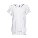 Basic Shirt mit Ziersteinen, weiß