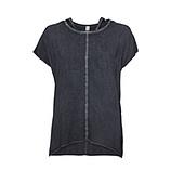 Basic Shirt mit Ziersteinen, night