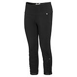 Baumwoll-Leggings mit Spitze 55cm, schwarz