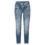 Jeans mit Glitzer-Schrift 72cm, light blue