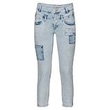Jeans mit Patches und Steinchen, light blue