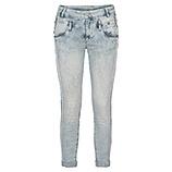 Sweat-Jeans mit Ziersteinen, denim