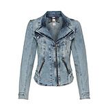 Jeansjacke mit Schmuck-Details, denim