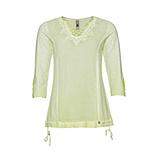 Basic Shirt mit Spitze, limone