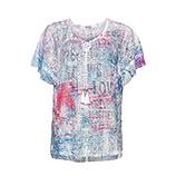 Transparentes Print-Shirt, kornblume