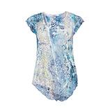 Blusenshirt im Alloverprint, blau