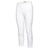 Baumwoll-Leggings mit Floral-Design 58cm, weiß