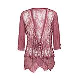 Tüll-Jacke im Floral-Design, hortensie