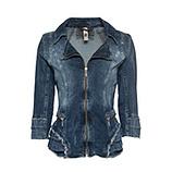 Jeansjacke mit Glitzersteinchen, denim