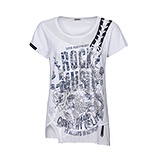 Shirt mit Frontprint in maritimen Farben, weiß