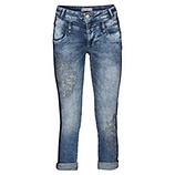 Cropped-Jeans mit Steinen 64cm, denim