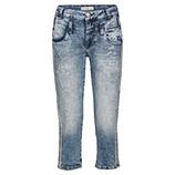 Jeans mit Glitzerschrift 54cm, denim