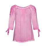 Basic Shirt mit Carmenausschnitt, rosé-pink