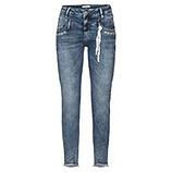 Cropped-Jeans mit Ziersteinen 72cm, denim