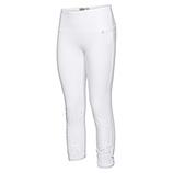 Baumwoll-Leggings mit Spitze 55cm, weiß