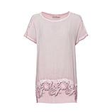 Basic Shirt mit Floralspitze, rosenholz