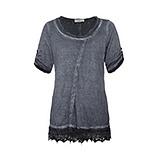 Basic Shirt mit Zierband, night