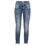 Sweat-Jeans mit Zierknöpfen 72cm, denim
