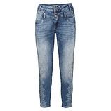 Jeans mit Print und Ziersteinen 63cm, denim