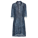 Kleid in Jeans-Optik mit Schnürung, denim