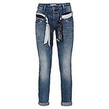 Jeans mit Gürtel und Steine 80cm, denim