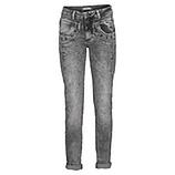 Hose mit Zierknöpfen 80cm, grau