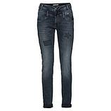 Jeans mit Print und Glitzersteinen 80cm, denim