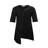 Basic Shirt mit Stern-Patches, schwarz