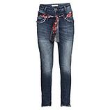 Jeans mit floralem Band, 72cm, denim
