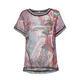 Chiffon-Shirt im Alloverprint, bunt