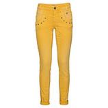 Sweat-Jeans mit Ziersteinen 80cm, safran