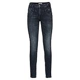 Sweat-Jeans mit Galonstreifen und Schmucksteinen 79cm, denim