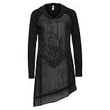 Kleid mit Schatten-Print, schwarz