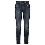Jeans mit Galonstreifen 80cm, dark denim