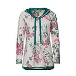 Sweat-Pullover im floralen Design, hellgrau