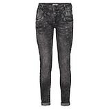 Sweat-Jeans mit Glitzersteinchen 80cm, grau