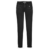 Sweat-Jeans mit Galonstreifen 80cm, schwarz
