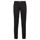 Hose mit Spitzen-Applikation 80cm, schwarz