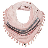 Loop-Schal mit Troddeln, rosenholz stonewashed