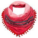 Loop-Schal mit Troddeln, salsa dip dye