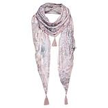 Schal mit Floral-Print, rosenholz