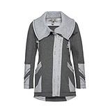 Jacke mit Print und Glitzersteinchen, grau meliert