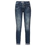 Jeans mir Pailletten und Glitzersteinchen 80cm, dark denim