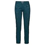 Sweat-Jeans mit Glitzersteinchen 80cm, petrol