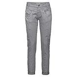 Sweat-Jeans mit Glitzersteinchen 80cm, hellgrau