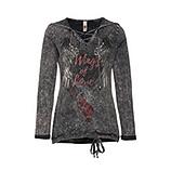 Shirt mit Flügel-Design, eiffelturm stonewashed