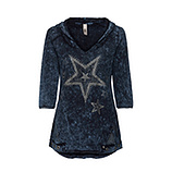 Tunikashirt mit Stern-Motiven, night