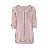 Shirt mit Lurex-Front, rosenholz