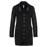 Mantel mit Jacquard -Optik, schwarz